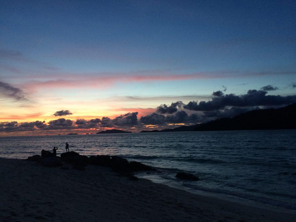 リペ島の夕暮れ(サンライズビーチ)