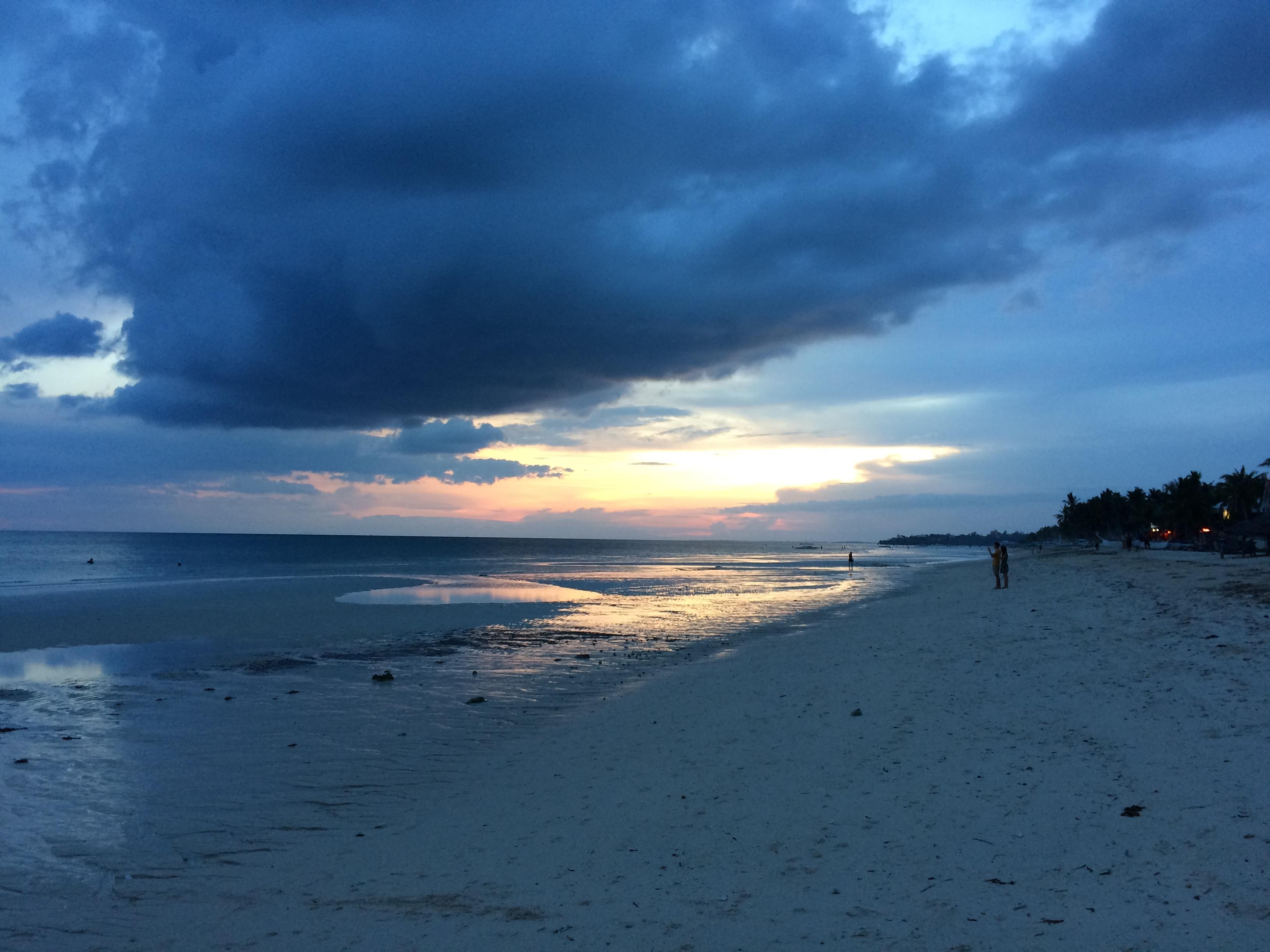 シュガービーチの夕焼け