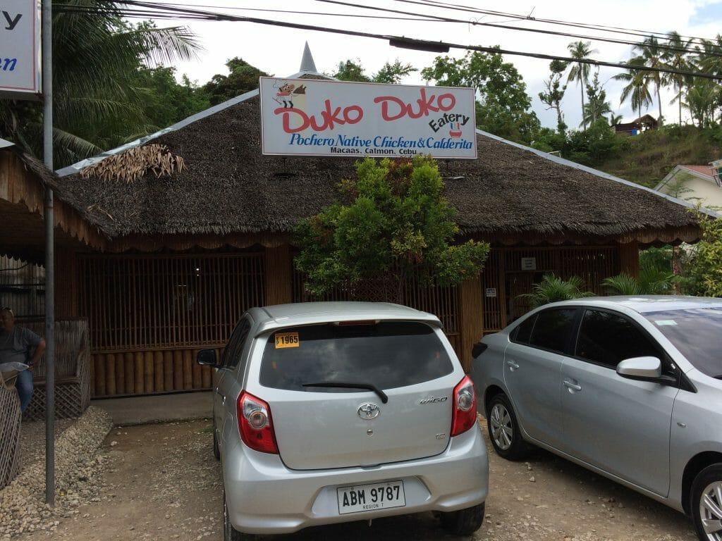ハグナヤ港までの道中にあるフィリピン料理屋