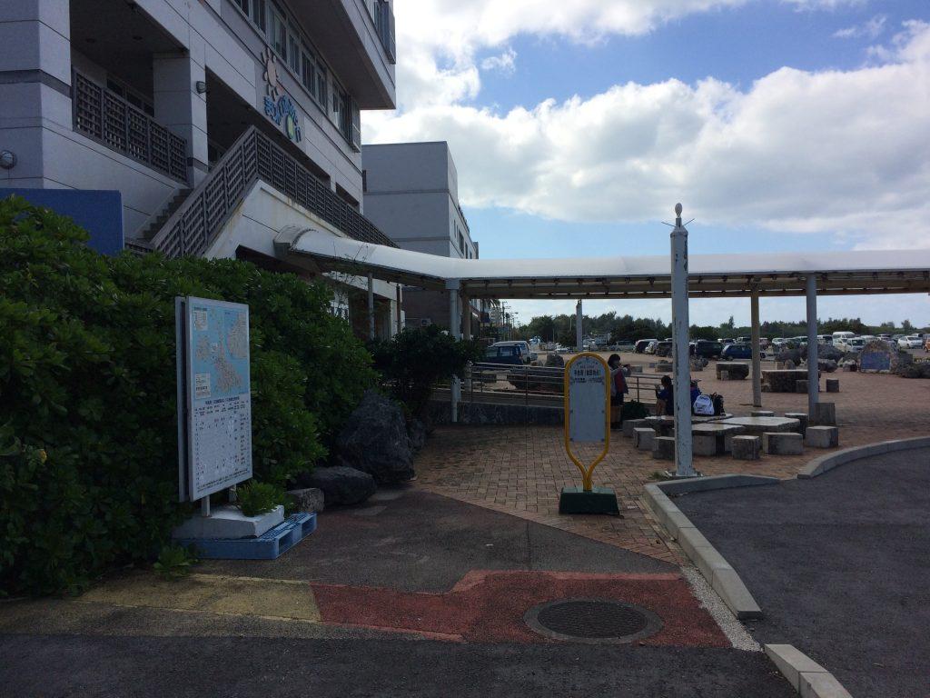 こちらは平良港のバスターミナル