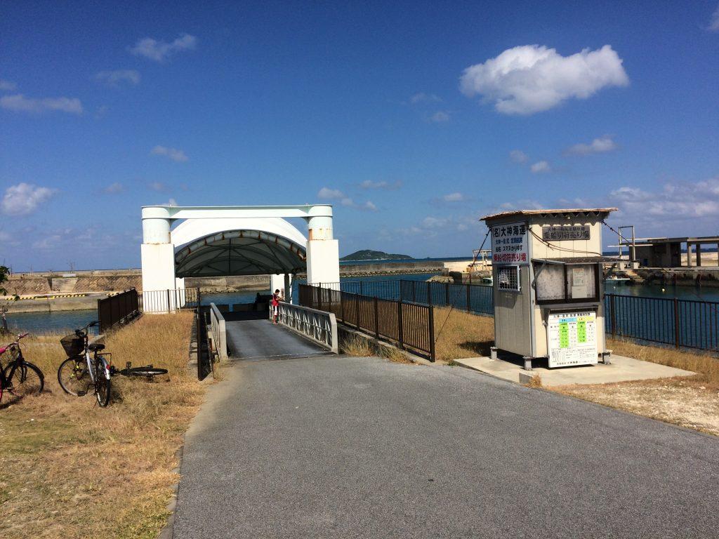 島尻港の切符売り場