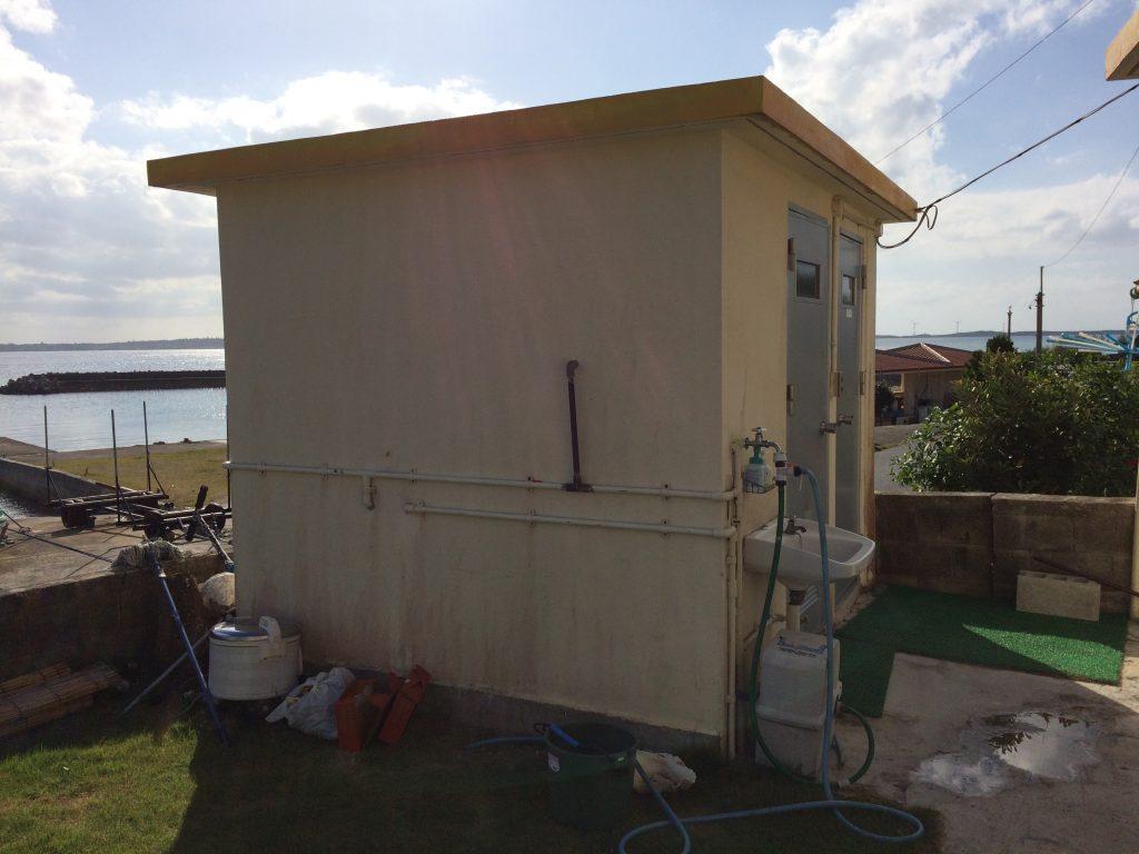大神島民宿のシャワー&トイレ