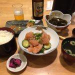 刺身(マグロ)の味噌和え&ご飯セット