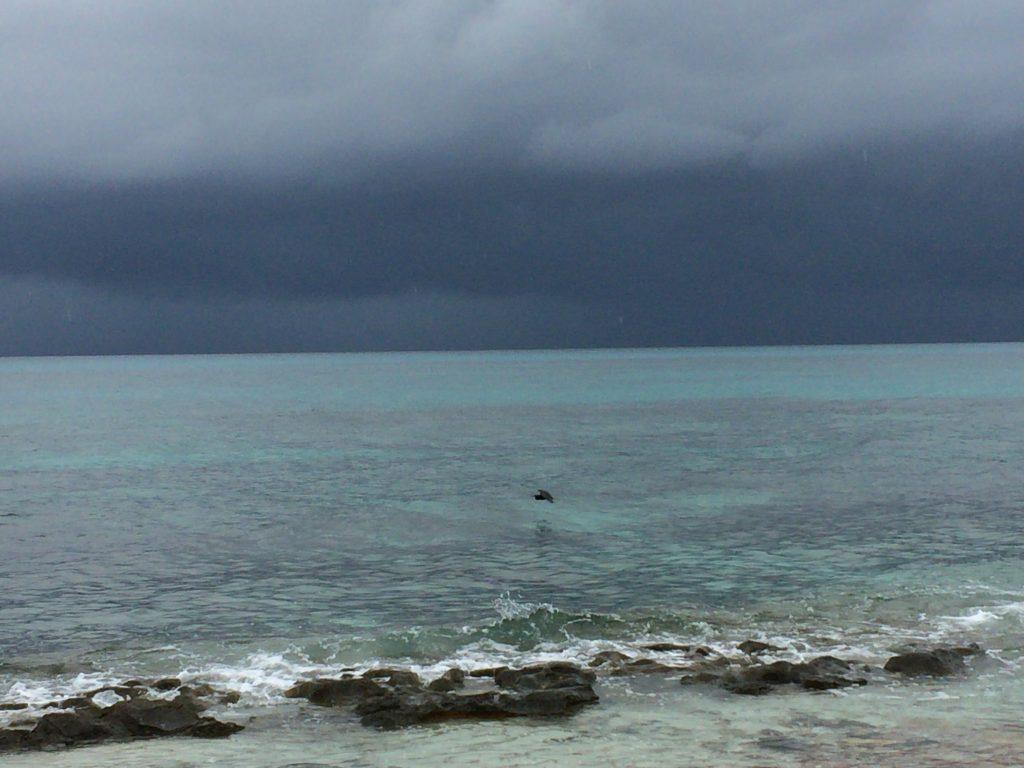 透明度の高い長間浜の海