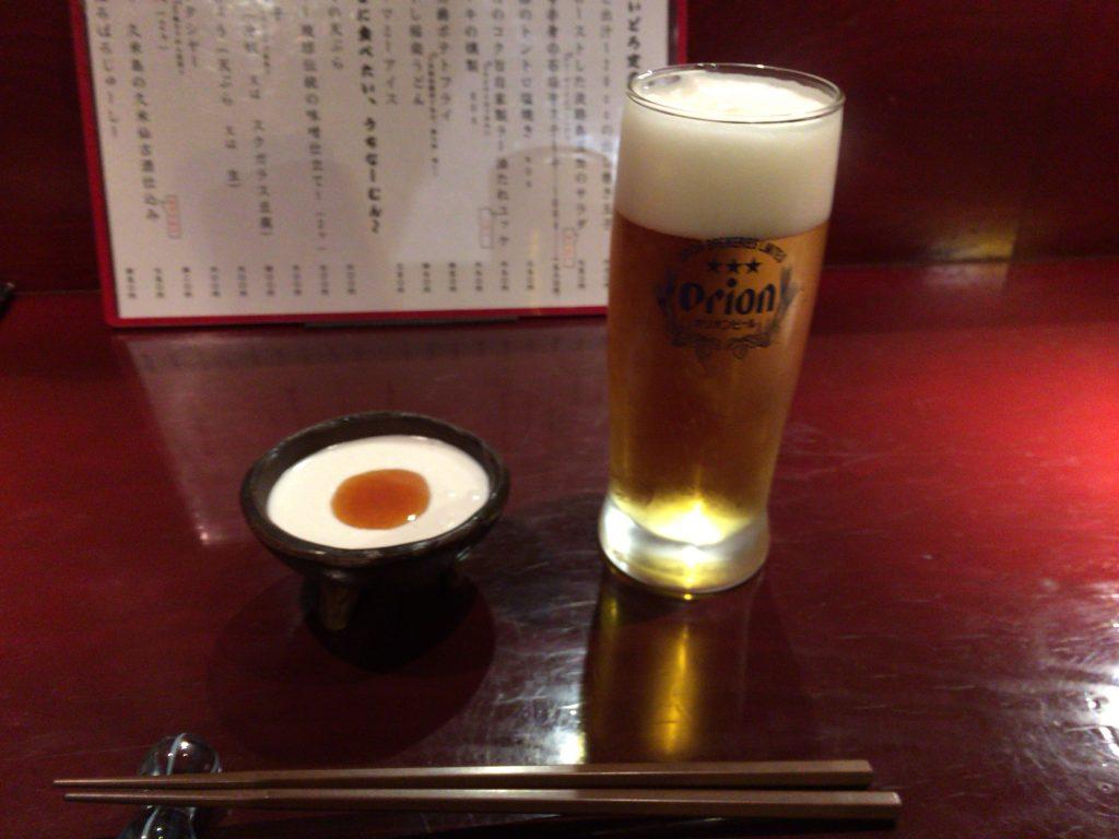 オリオンビールとジーマミー豆腐