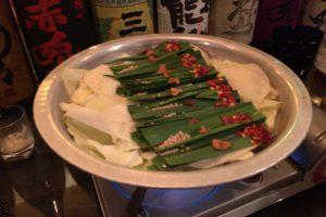 九州味噌味のもつ鍋