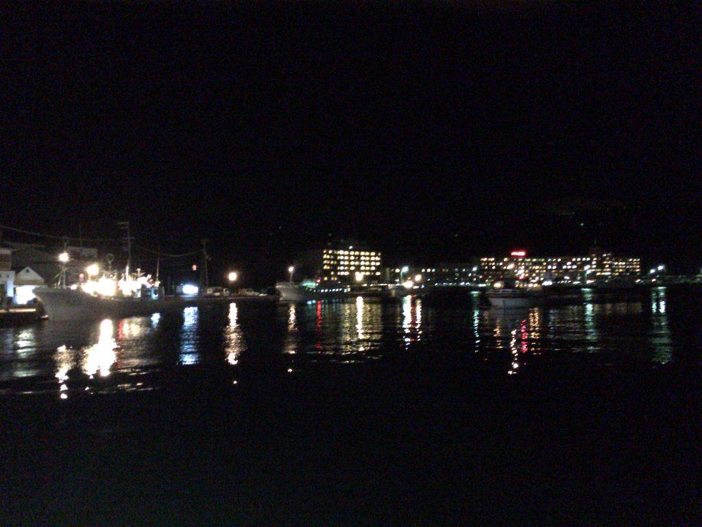 勝浦港から見るホテル浦島