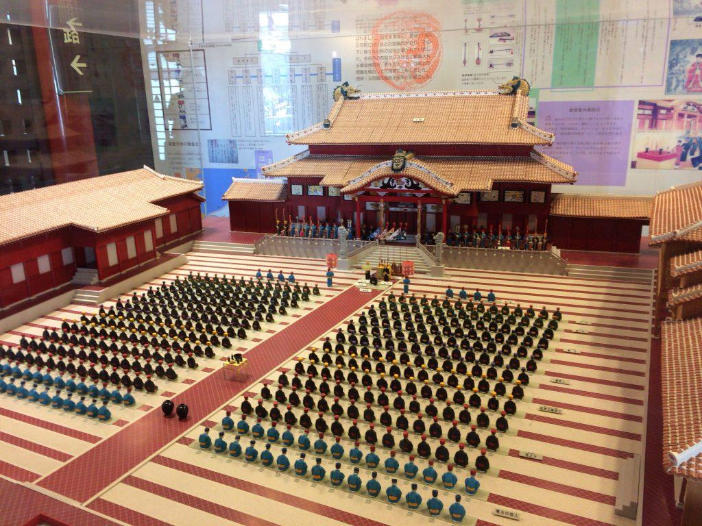 北殿(ほくでん)にある首里城の模型