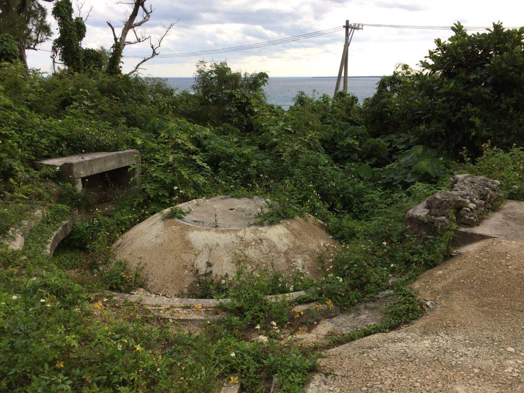 旧日本軍の砲台跡