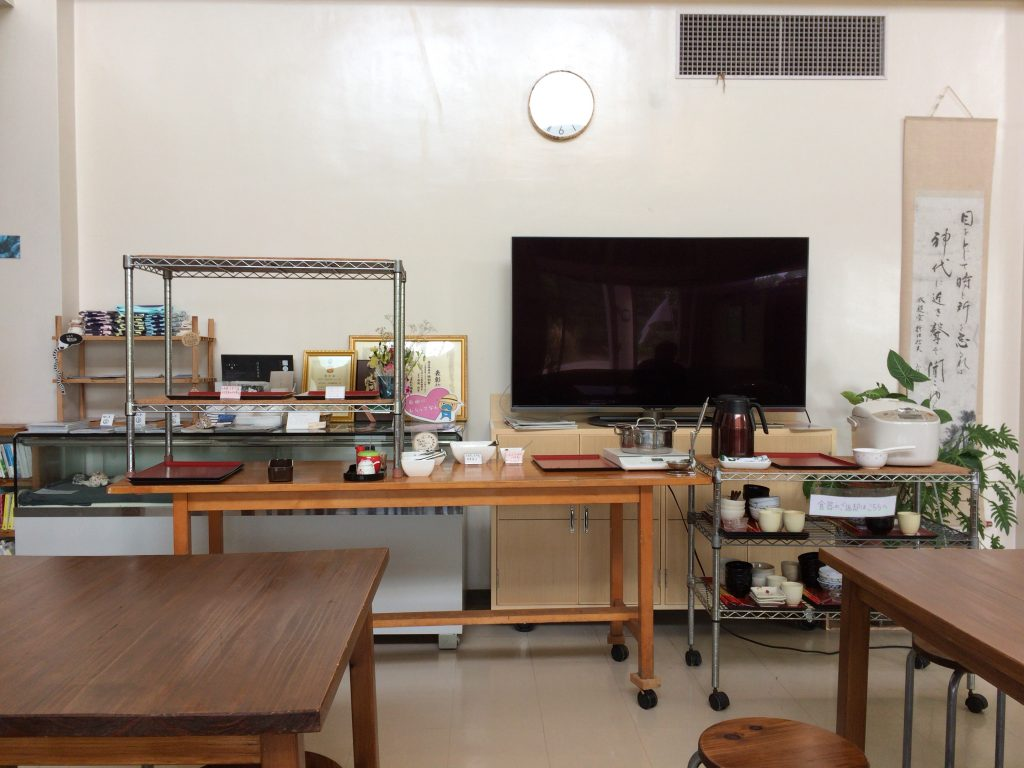 久高島宿泊交流館の朝食スペース