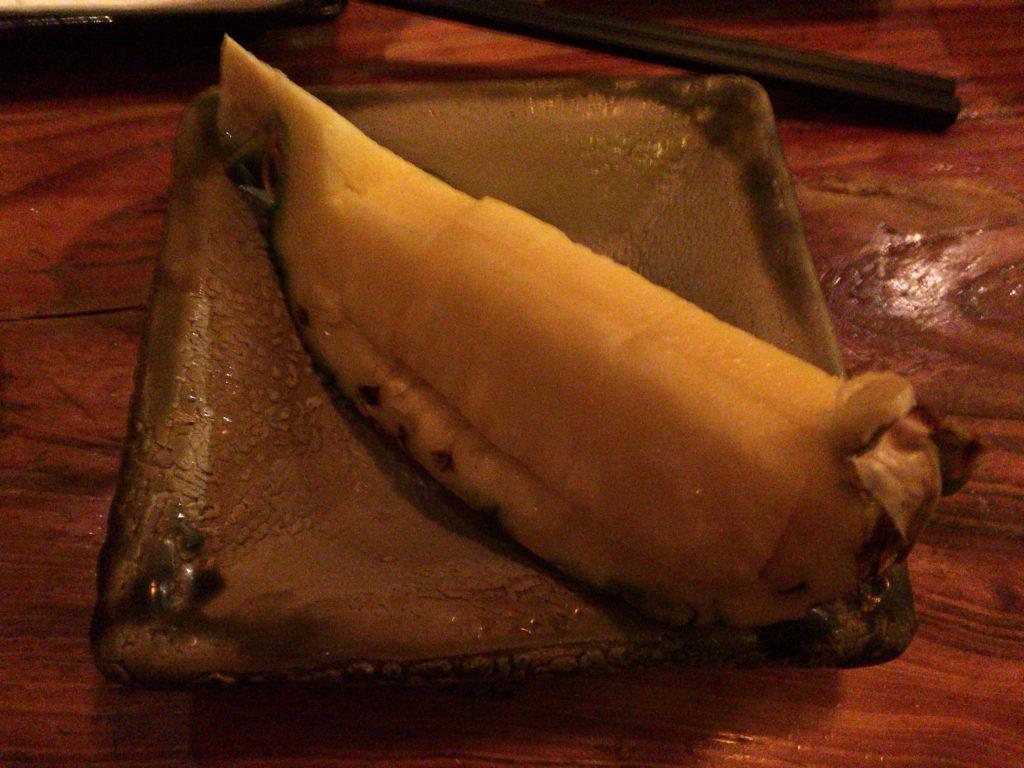 食後のパイナップル