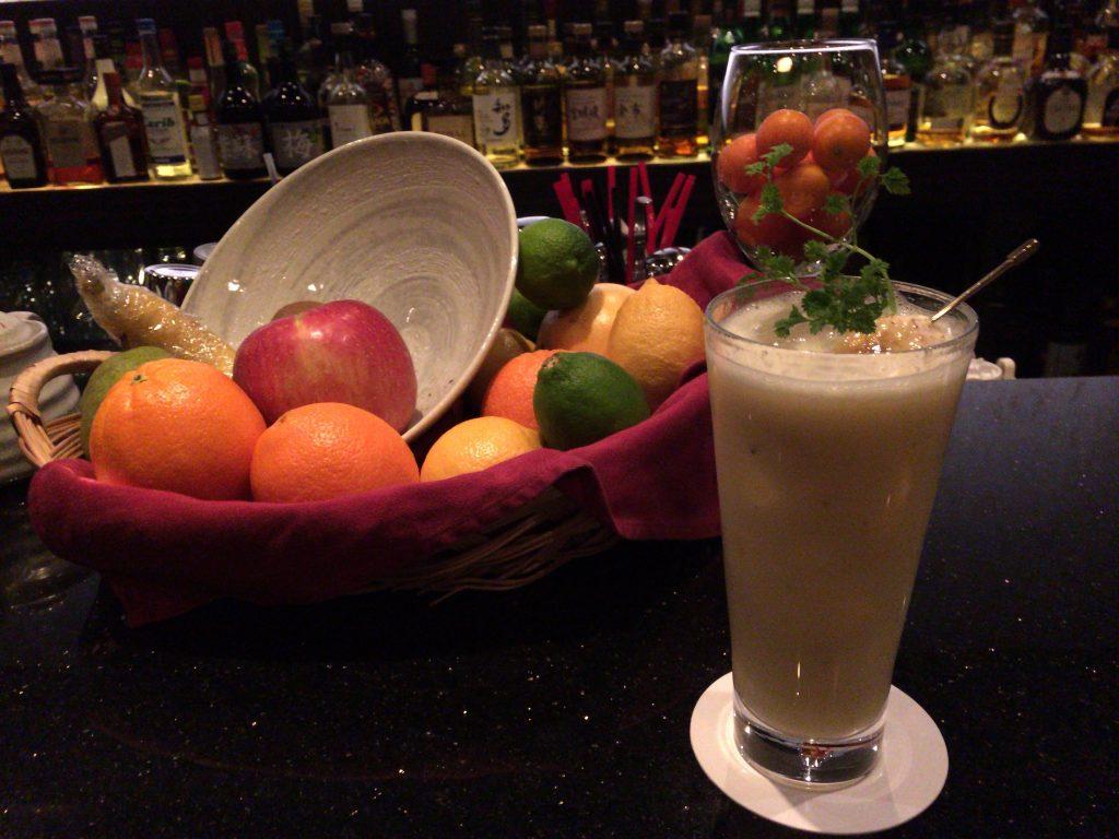 バナナのフルーツカクテル