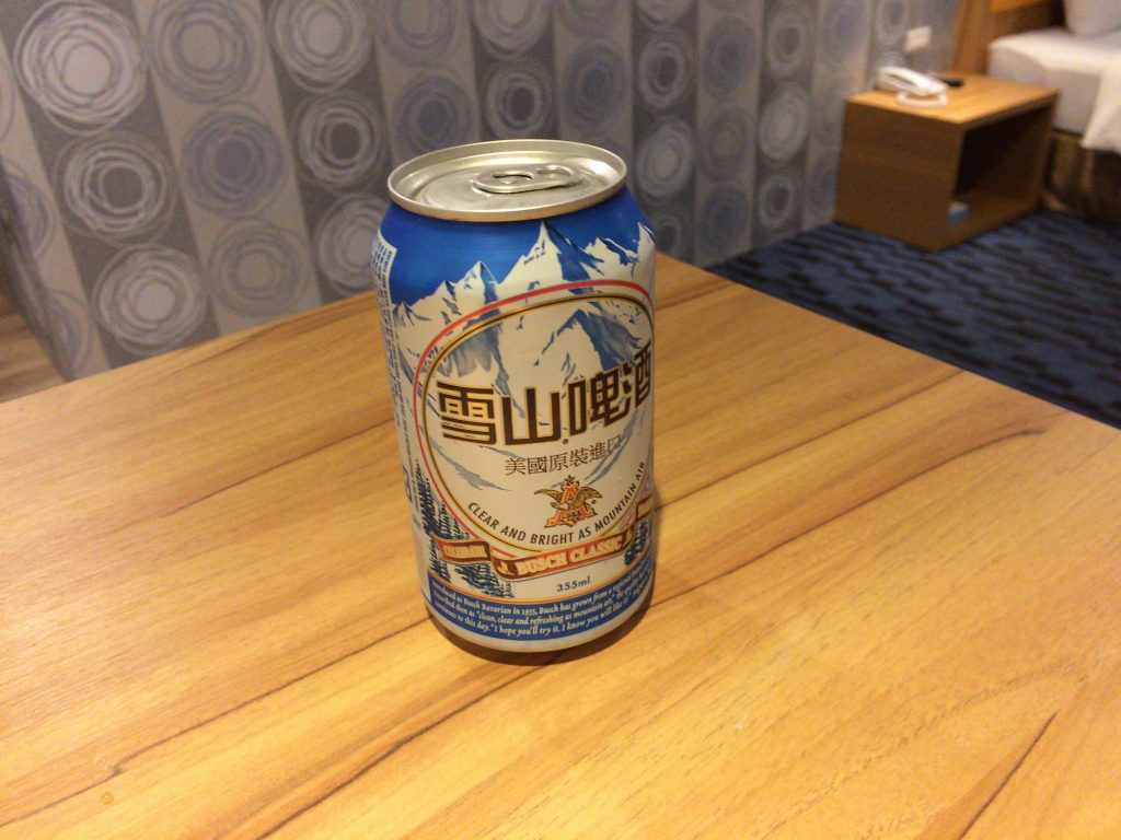 台湾ビールと思って買ったらアメリカのブッシュビール(Busch Beer)というオチでした