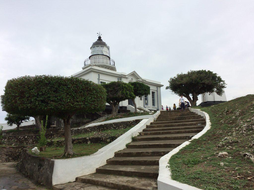 旗後灯台。1883年に建設され、1918年に改修されて現在の姿になった