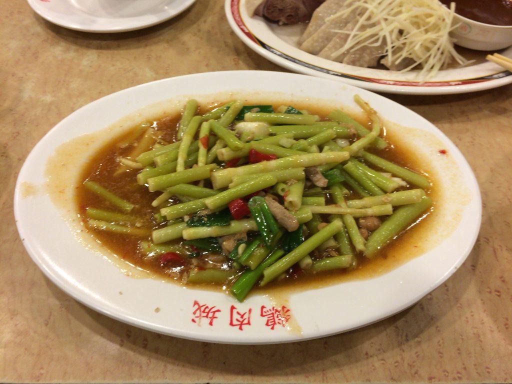 台湾タケノコの炒め物