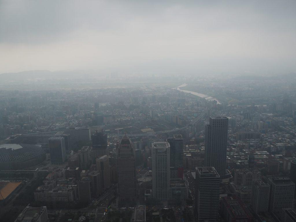 台北101の屋内展望台からの景色