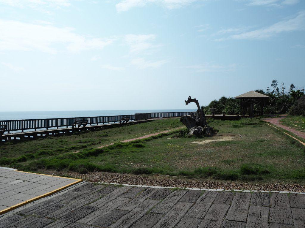 小琉球の西端にある落日亭