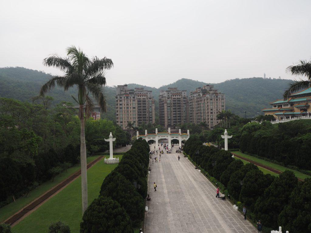 国立故宮博物院からの風景