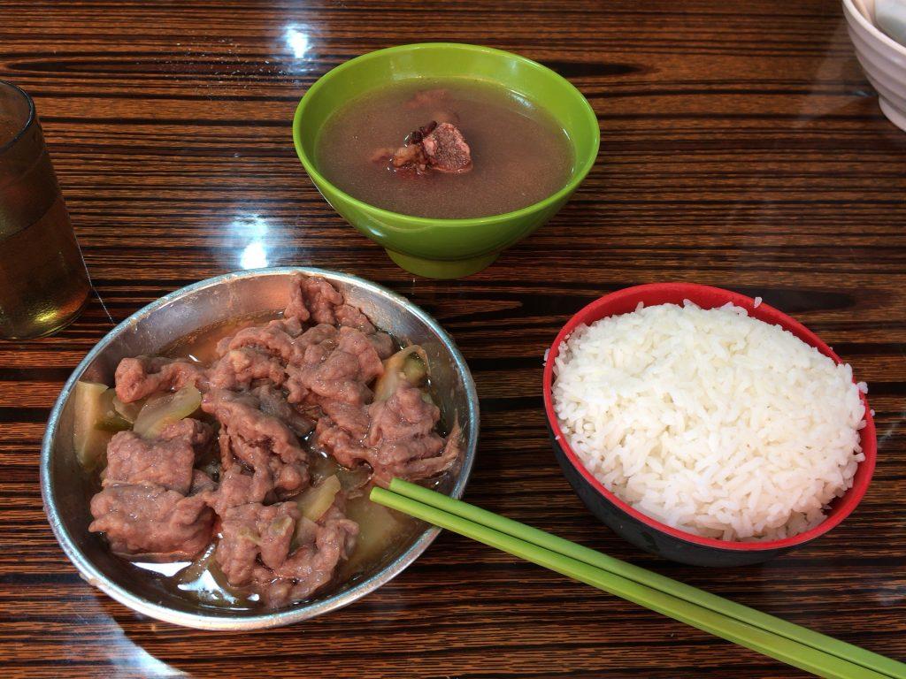 ランチセット(牛肉料理)