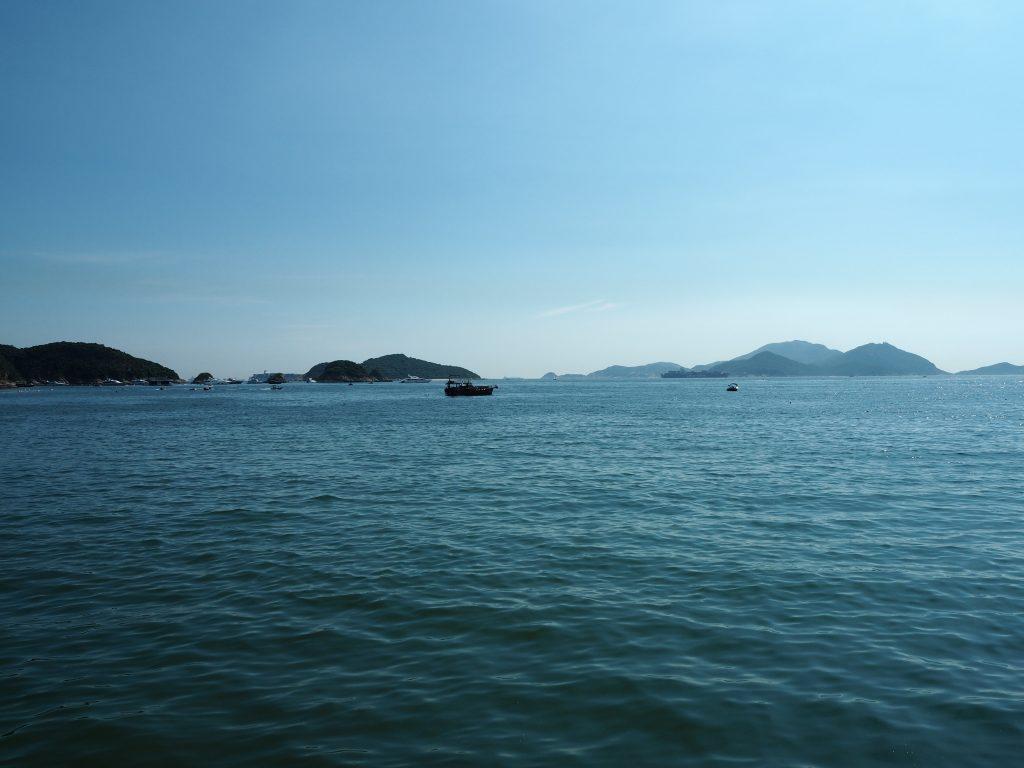 レパルスベイの青い海