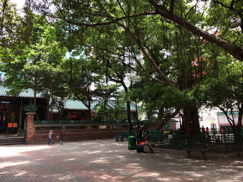 油麻地天后廟前の公園