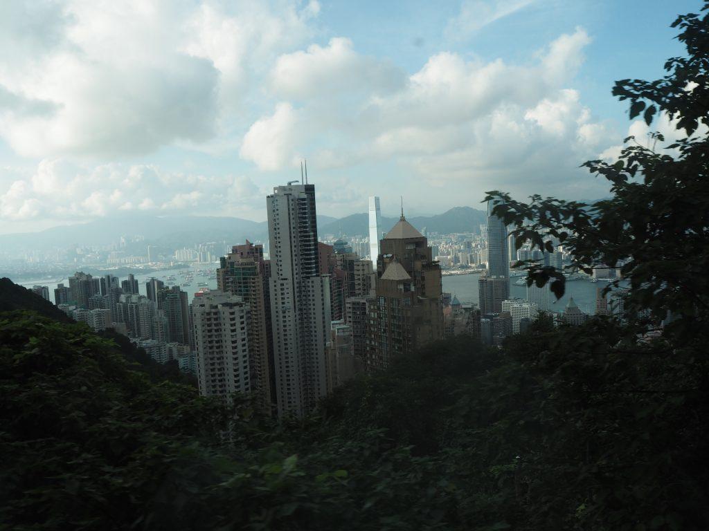 ピークトラム(Peak Tram)から見る景色