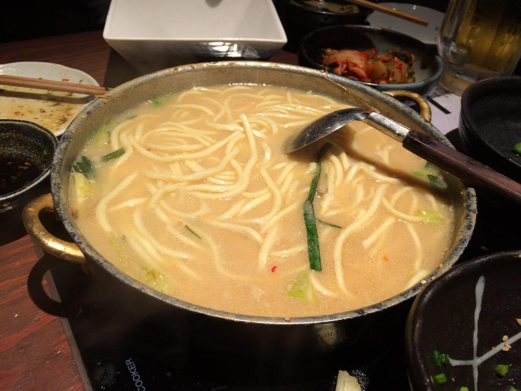 締めのチャンポン(太麺)