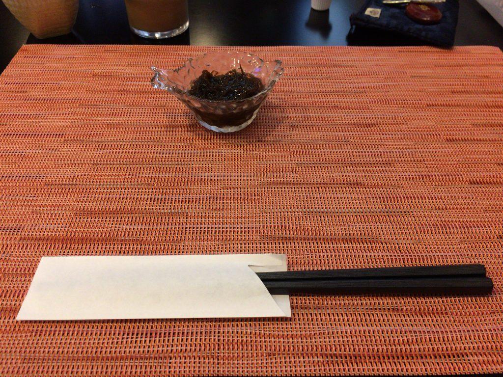 前菜の小鉢(もずく)