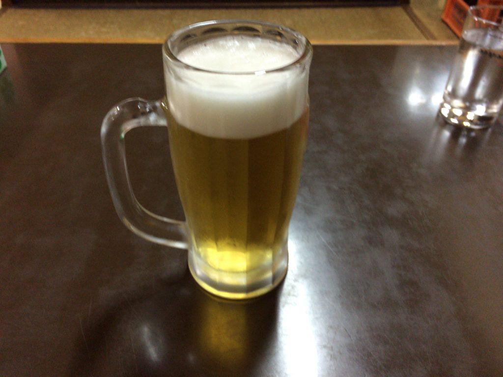 とりあえずの生ビール