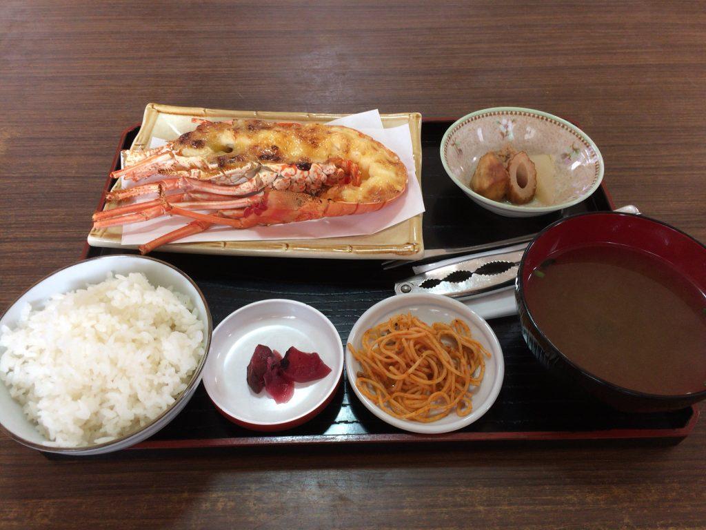 伊勢海老定食(1,900円)