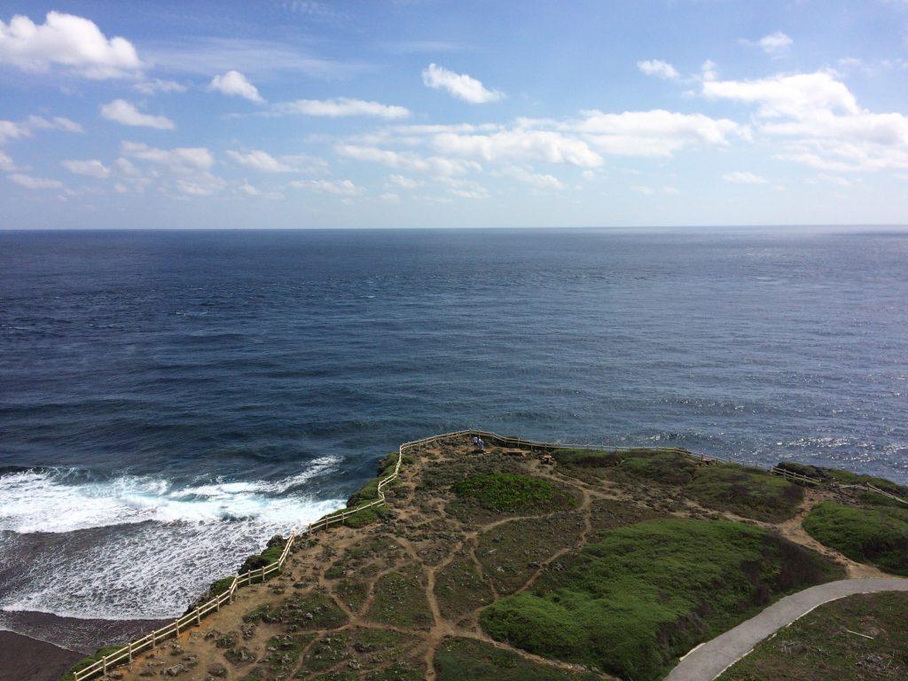 東シナ海と太平洋を望むことができる