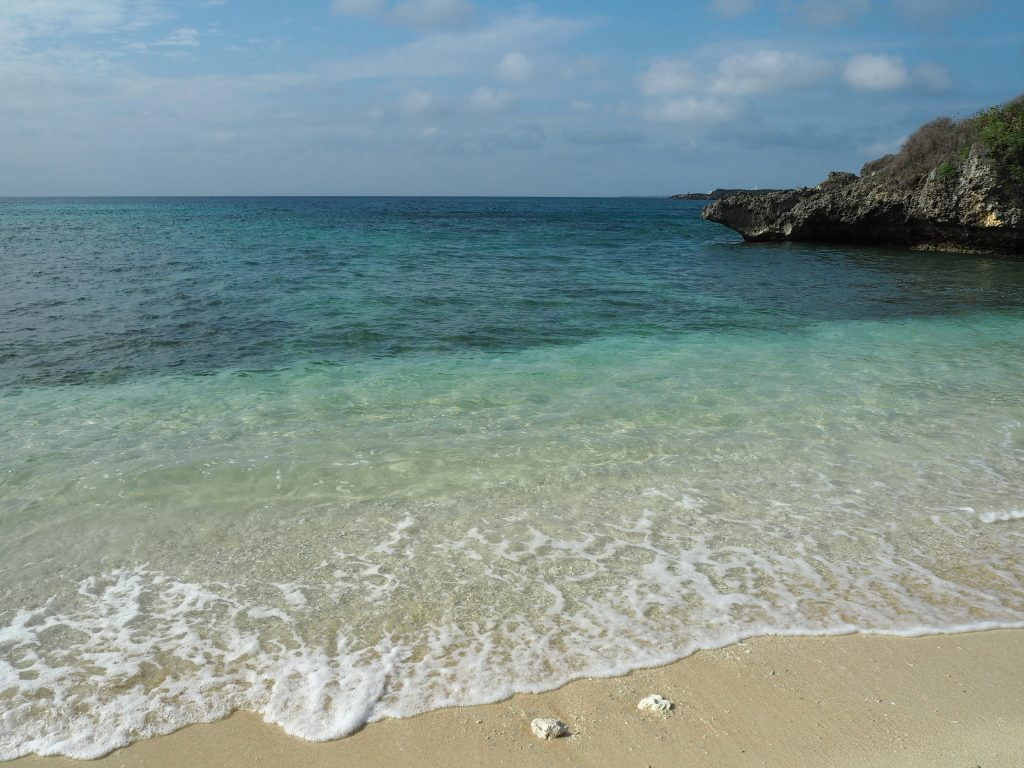 透明度の高い間那津海岸の海