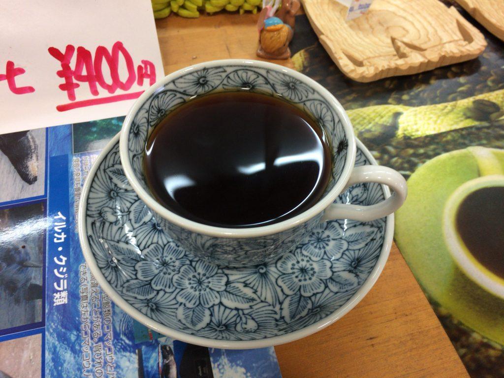 多良間産の塩が入ったソルトコーヒー
