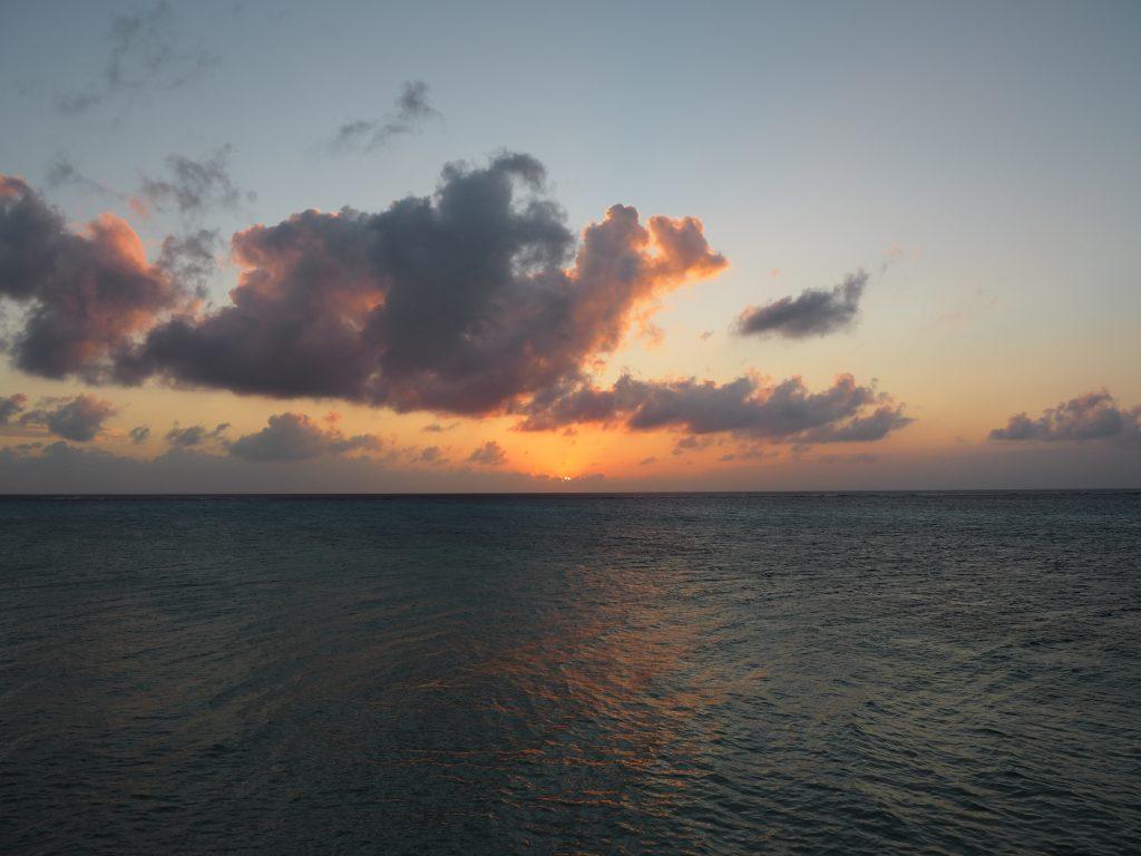 夕日が沈んでしまった