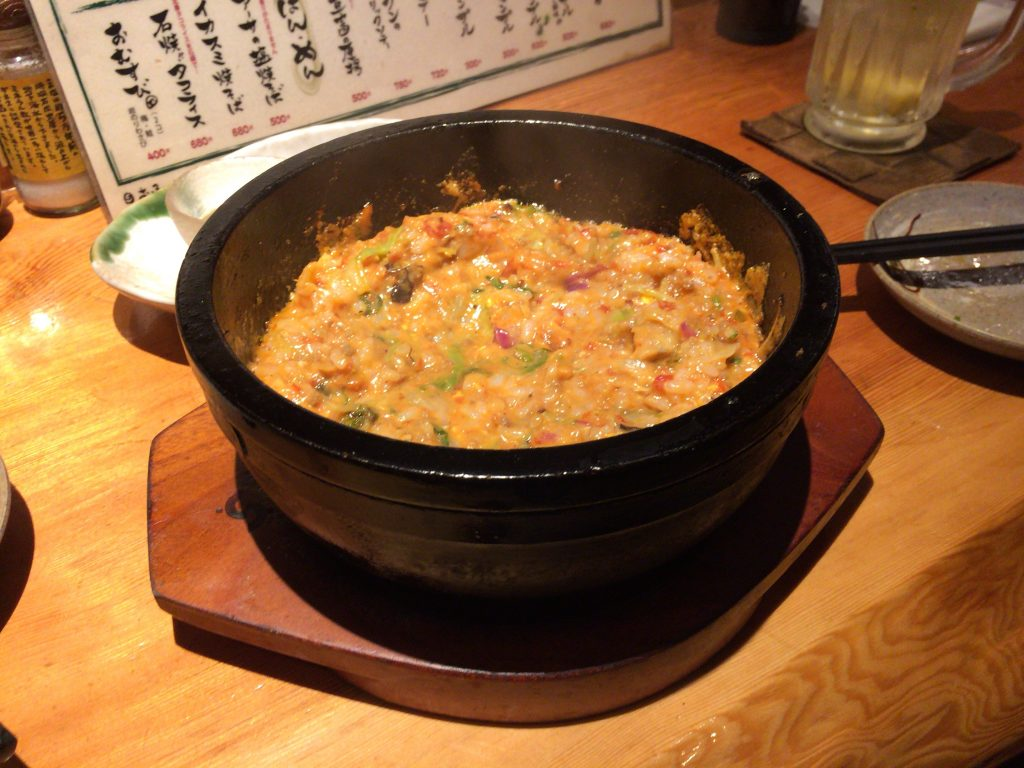 石焼タコライス(混ぜた後)