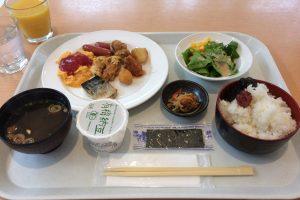 2回目以降の朝食は和食中心になった