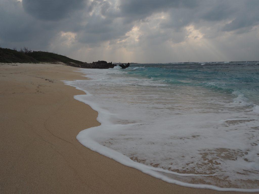 品覇海岸。かなり大きなビーチだ