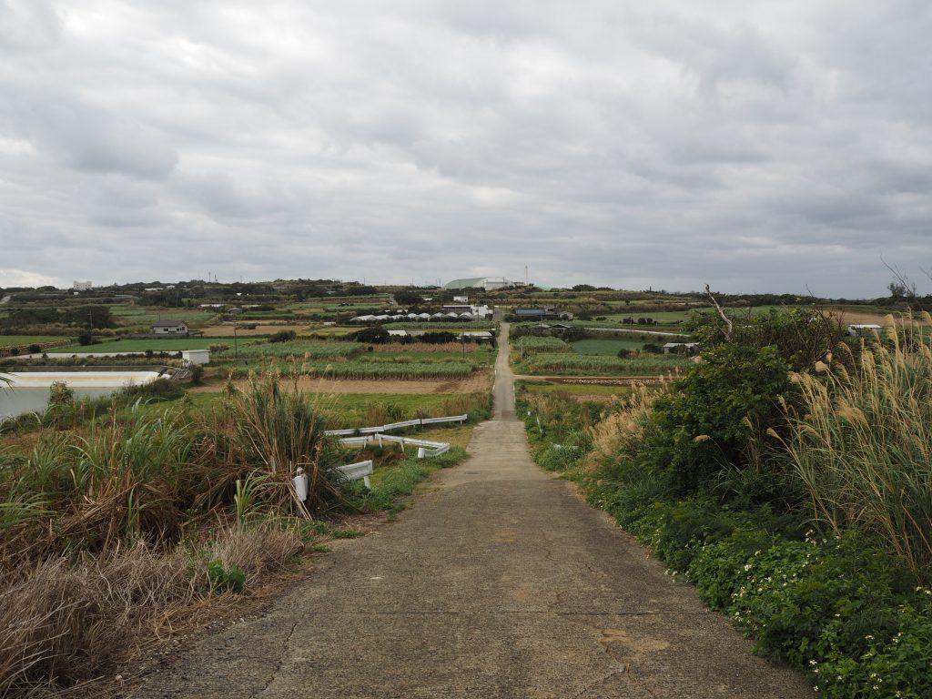 与論島の風景。離島らしい素朴な風景だ
