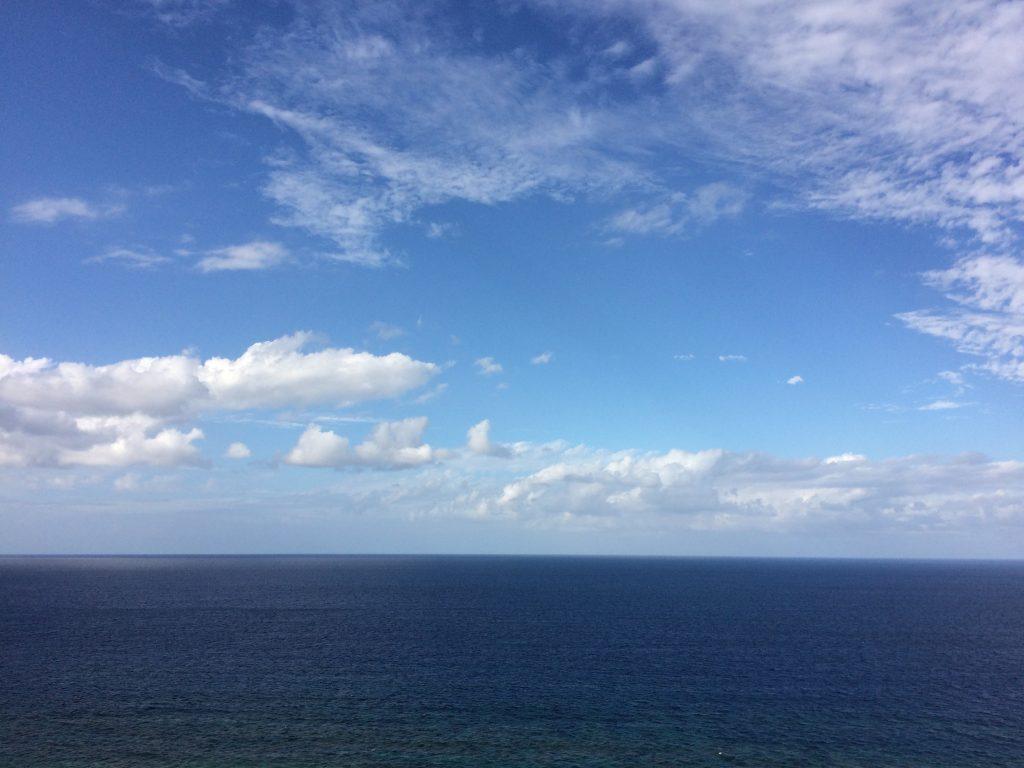 大海原を一望できる