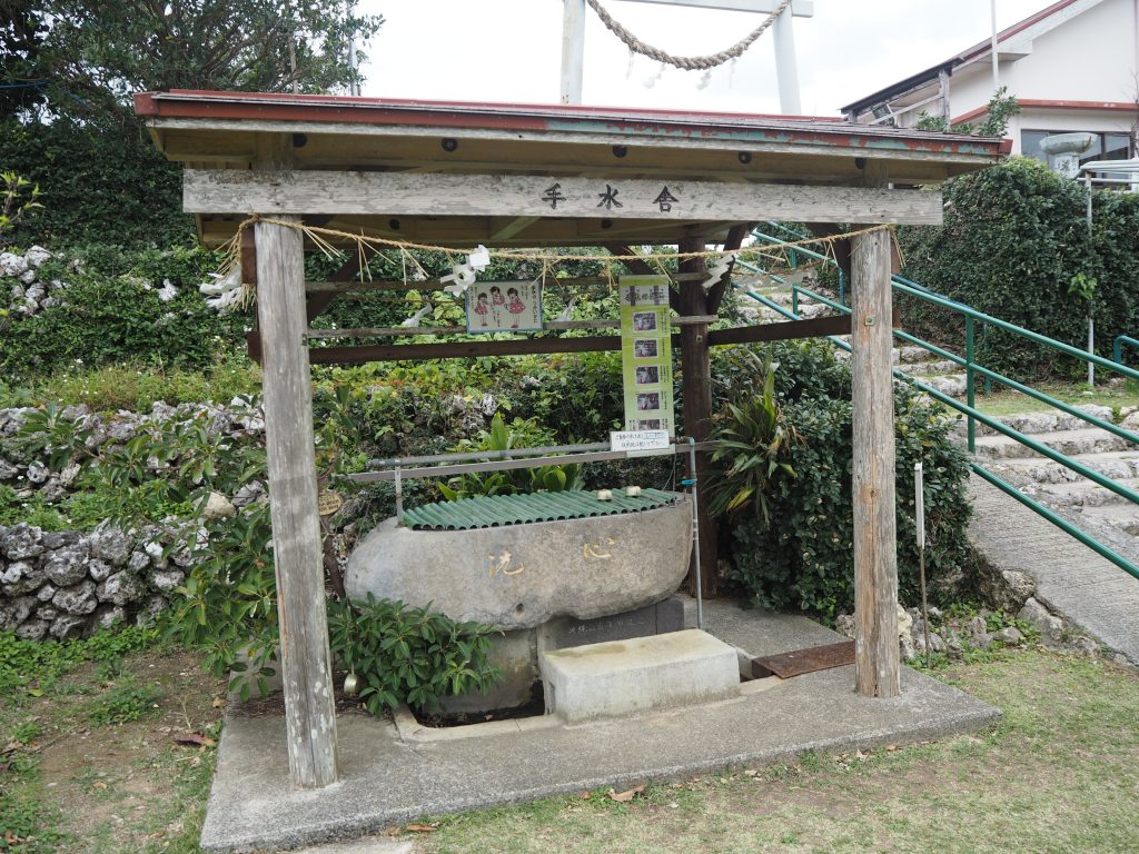神社の手水舎(ちょうずや)