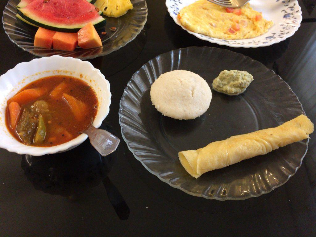 別の日の朝食メニュー