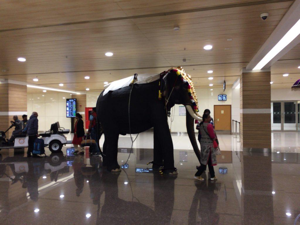 コーチン国際空港に到着