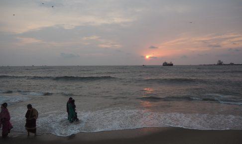 アラビア海に沈む夕日(サンセット)