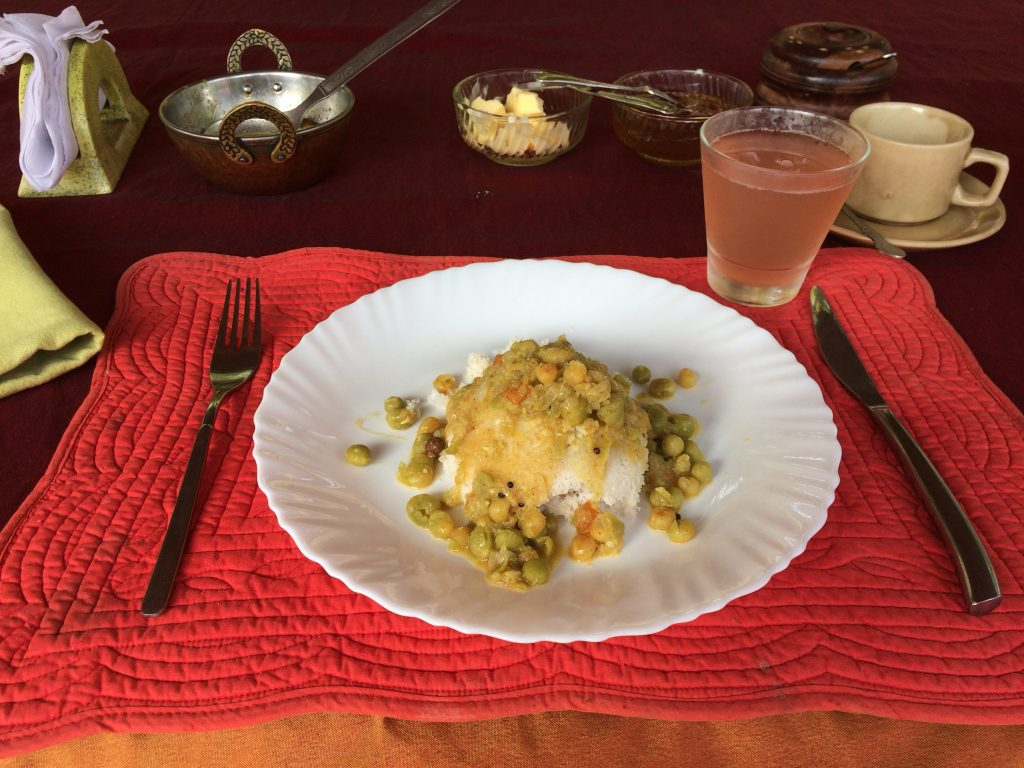 南インドらしい朝食だ