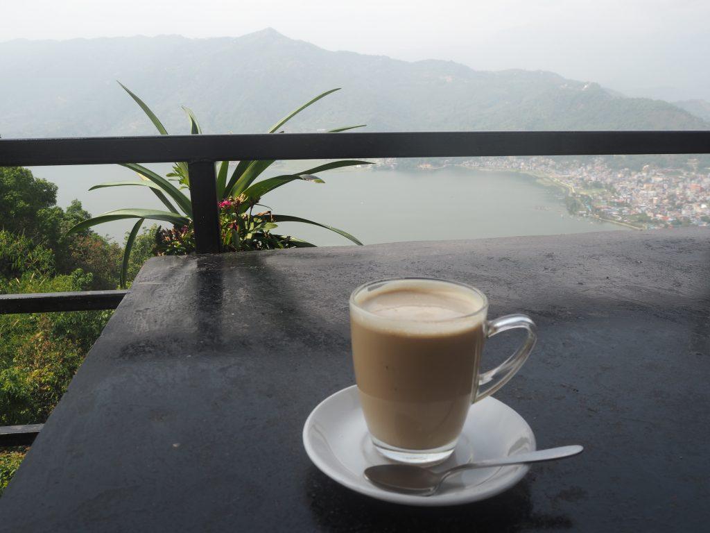 カフェからの景色。ワールドピースパゴダよりも良い景色かも?