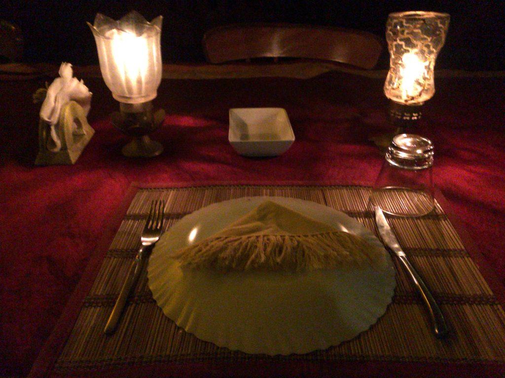 晩餐の始まりだ