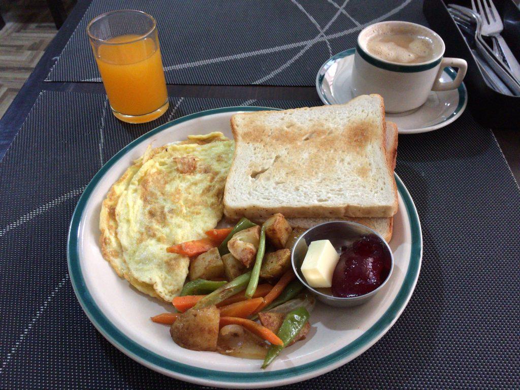 「ホテル カトマンズ ホーム ネパール」の朝食