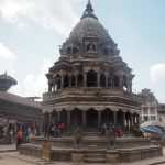 チケット売り場の近くにあるクリシュナ寺院