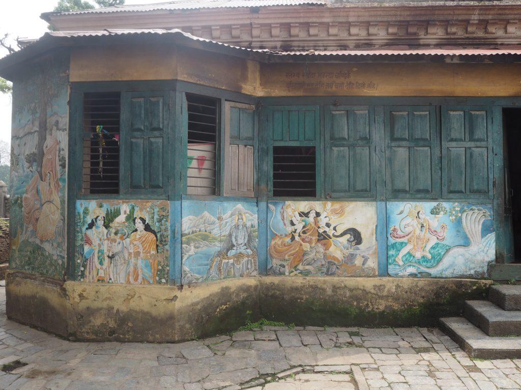 ヒンズー教の神々の壁画
