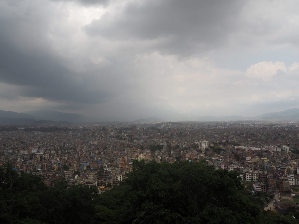 スワヤンブナートの展望台からの景色